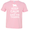 Image of Keep Calm And Save the Tigers Awareness Toddler Jersey T-Shirt