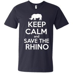 Keep Calm and Save the Rhino Men's V-Neck T-Shirt