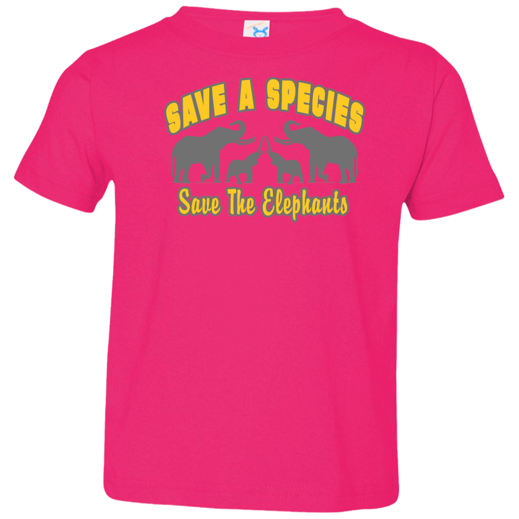 Save A Species Save the Elephants Awareness Toddler Jersey T-Shirt