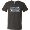 Image of The Thing we Should Fear Most About Sharks is Their Looming Extinction Men's V-Neck T-Shirt