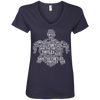 Image of Save the Turtles Awareness Women's V-Neck T-Shirt