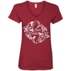 Image of Save Dolphins Awareness Women's V-Neck T-Shirt