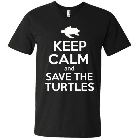 Keep Calm And Save the Turtles Men's V-Neck T-Shirt