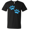 Image of Paw Prints Men's V-Neck T-Shirt