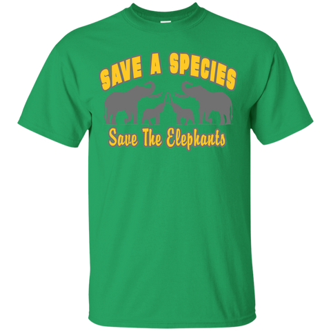 Save A Species Save the Elephants Awareness Youth T-Shirt