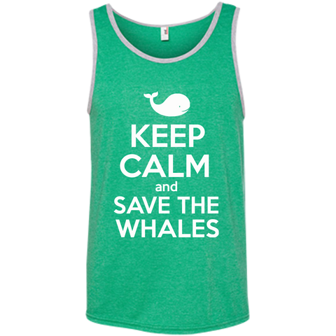Keep Calm And Save the Whales Men's Tank Top