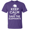 Image of Keep Calm and Save the Elephants Unisex T-Shirt