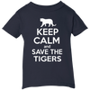 Image of Keep Calm And Save the Tigers Awareness Infant T-Shirt