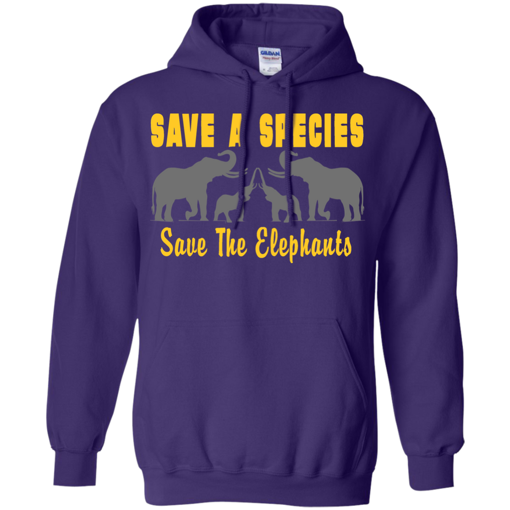Save the Species Save the Elephants Awareness Hoodie