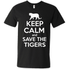 Image of Keep Calm And Save the Tigers Awareness Men's V-Neck T-Shirt