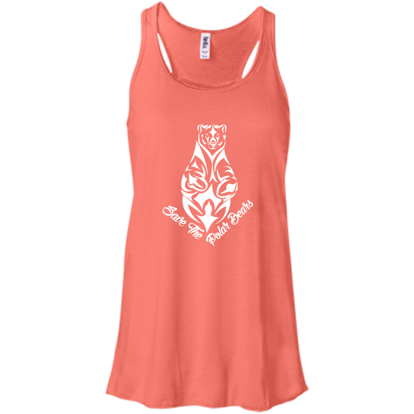 Save the Polar Bears Awareness Women's Flowy Tank Top