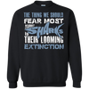 Image of The Thing we Should Fear Most About Sharks is Their Looming Extinction Sweatshirt