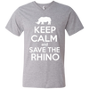 Image of Keep Calm and Save the Rhino Men's V-Neck T-Shirt