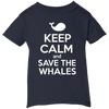 Image of Keep Calm And Save the Whales Infant T-shirt
