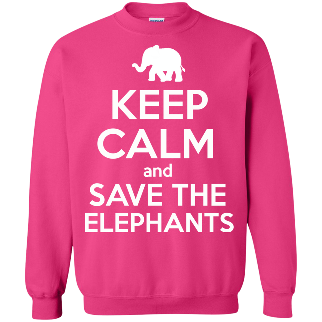Keep Calm and Save the Elephants Sweatshirt