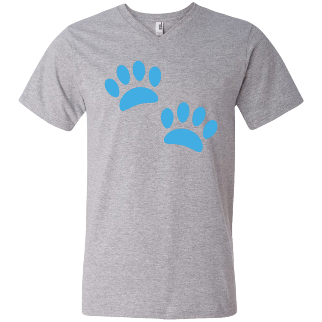 Paw Prints Men's V-Neck T-Shirt