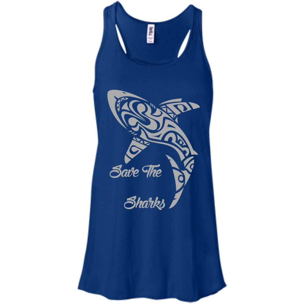 Save the Sharks Tribal Women's Flowy Tank Top