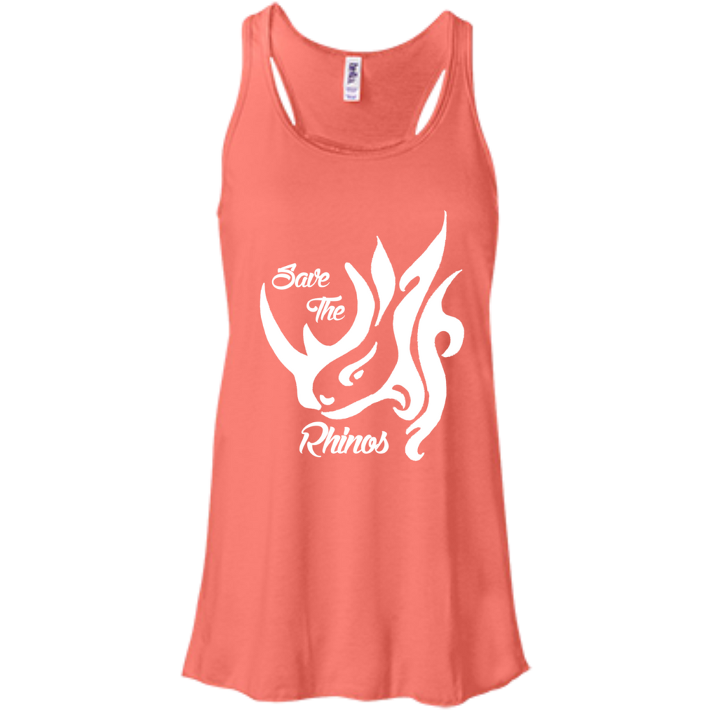 Save The Rhinos Awareness Summer Tank Top Women's Flowy Tank Top