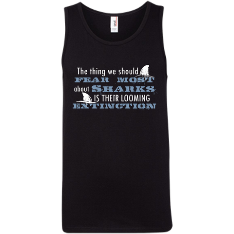 The Thing we Should Fear Most About Sharks is Their Looming Extinction Men's Tank Top