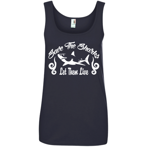Save the Sharks Let Them live Women's Tank Top