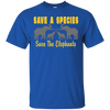 Image of Save the Species Save the Elephants Awareness Unisex T-Shirt