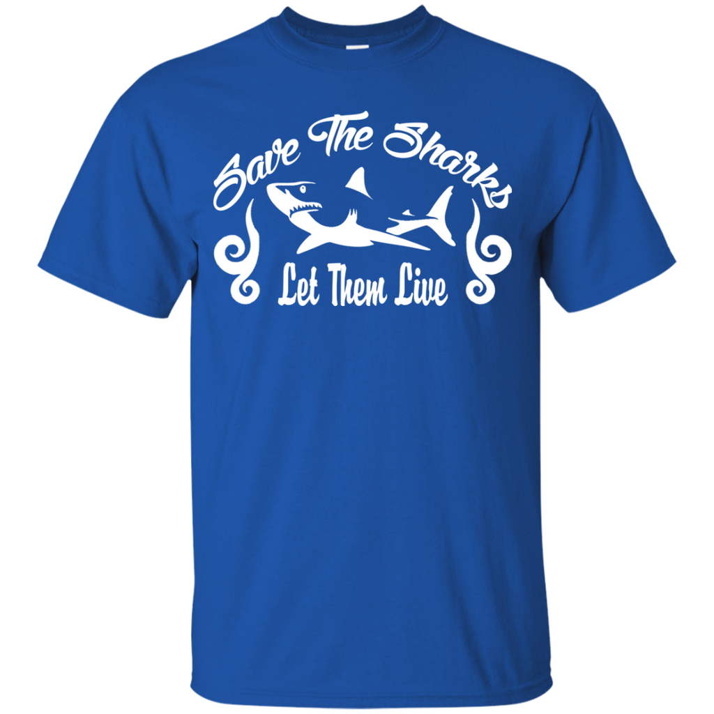 Save the Sharks Let Them live Youth T-Shirt