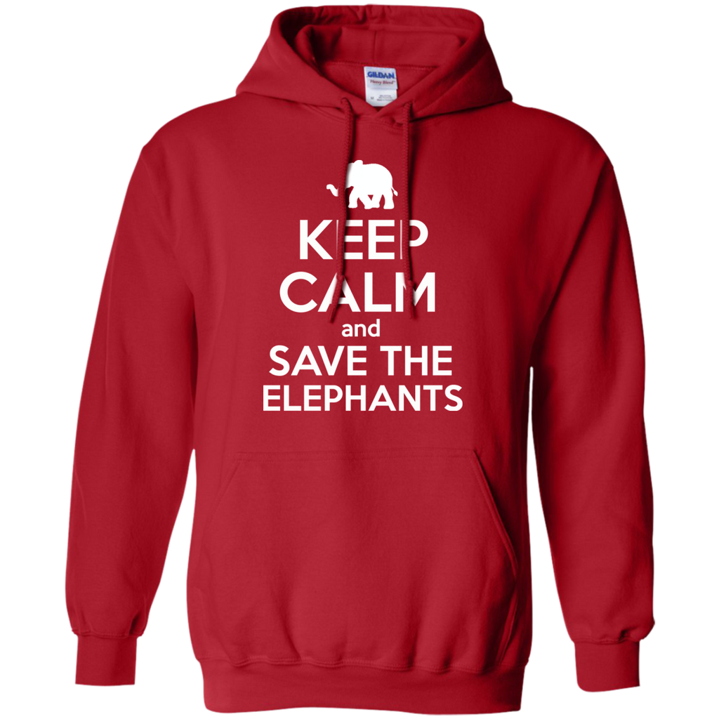 Keep Calm and Save the Elephants Hoodie