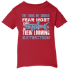 Image of The Thing we Should Fear Most About Sharks is Their Looming Extinction Infant T-Shirt