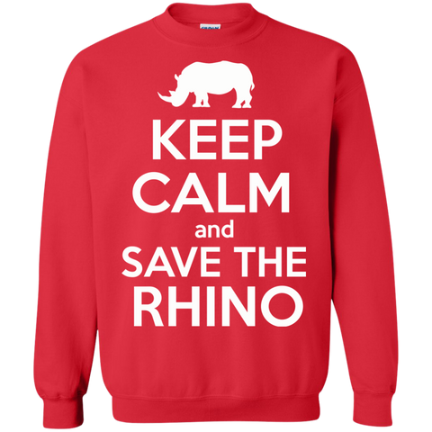 Keep Calm and Save the Rhino Sweatshirt