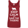 Image of Keep Calm And Save the Tigers Awareness Women's Tank Top