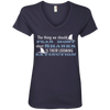 Image of The Thing we Should Fear Most About Sharks is There Looming Extinction Women's V-Neck T-Shirt