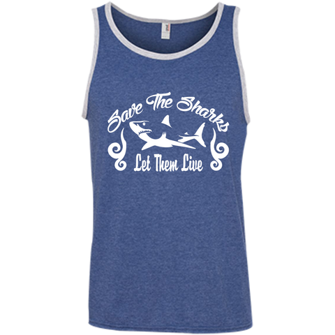 Save the Sharks Let Them live Men's Tank Top