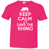 Image of Keep Calm and Save the Rhino Toddler Jersey T-Shirt