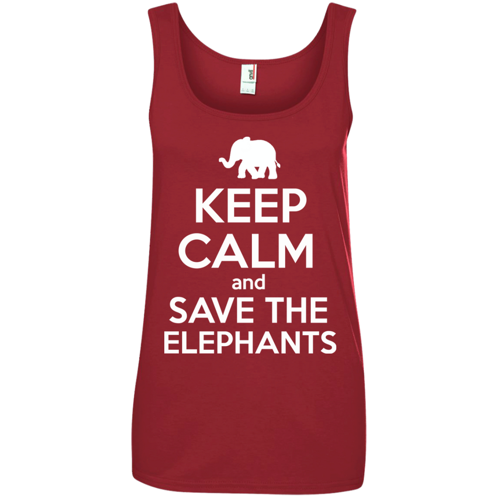 Keep Calm and Save the Elephants Women's Tank Top