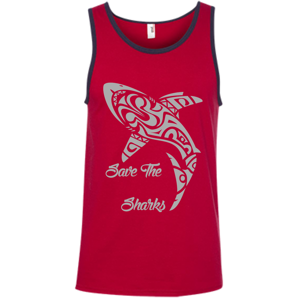 Save the Sharks Tribal Men's Tank Top
