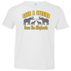 Image of Save A Species Save the Elephants Awareness Toddler Jersey T-Shirt