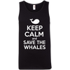 Image of Keep Calm And Save the Whales Men's Tank Top