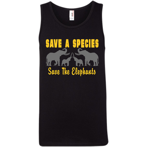 Save the Species Save the Elephants Awareness Men's Tank Top