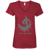 Image of Save the Orcas Women's V-Neck T-Shirt