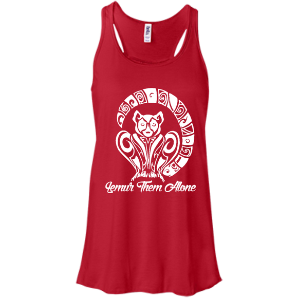 Lemur Them Alone Awareness Women's Flowy Tank Top