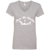 Image of Save the Sharks Women's V-Neck T-Shirt