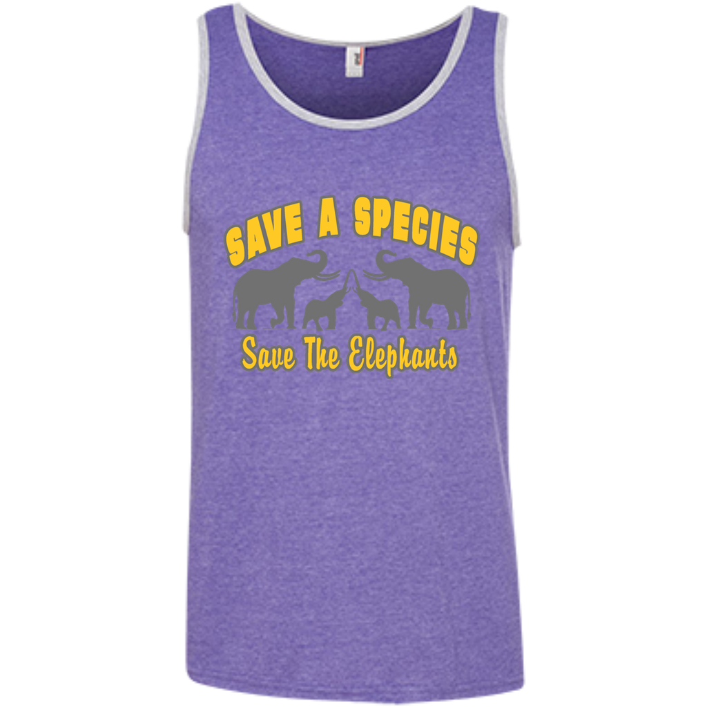 Save A Species Save the Elephants Awareness Men's Tank Top
