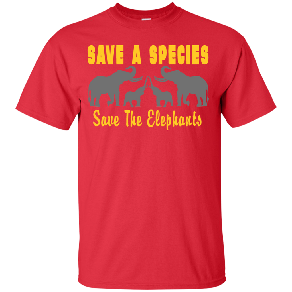 Save the Species Save the Elephants Awareness Youth T-Shirt