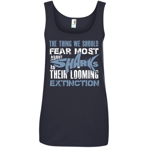 The Thing we Should Fear Most About Sharks is Their Looming Extinction Women's Tank Top