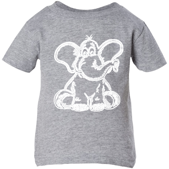 Funny Elephant Stencil Infant T-Shirt