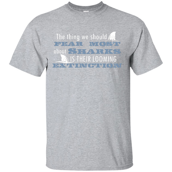 The Thing we Should Fear Most About Sharks is There Looming Extinction Unisex T-Shirt