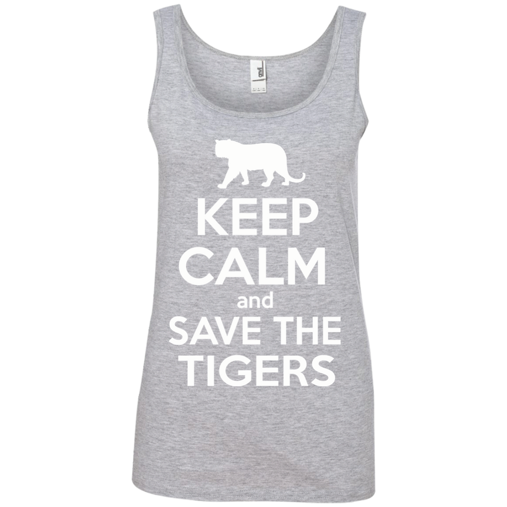 Keep Calm And Save the Tigers Awareness Women's Tank Top