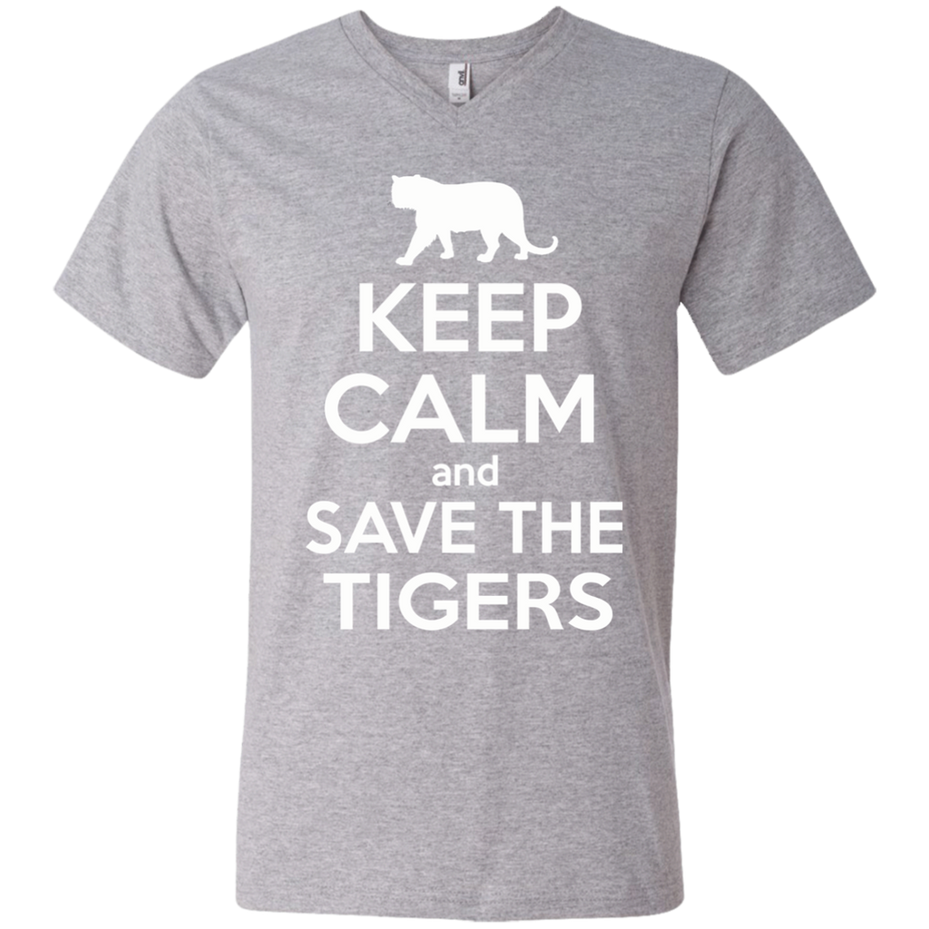 Keep Calm And Save the Tigers Awareness Men's V-Neck T-Shirt