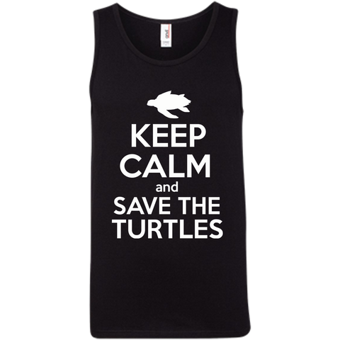 Keep Calm And Save the Turtles Men's Tank Top