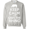 Image of Keep Calm and Save the Rhino Sweatshirt